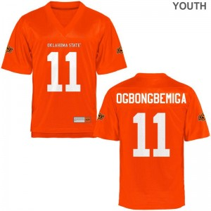 Orange Amen Ogbongbemiga Jersey OK State Youth(Kids) Game