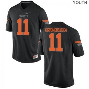 OSU Cowboys Amen Ogbongbemiga Jerseys Youth Limited - Black