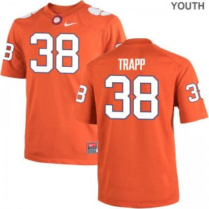 Clemson National Championship Amir Trapp Jersey Youth Game - Orange