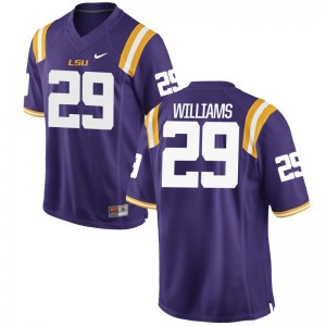 Andraez Williams Men Jersey Game Purple LSU Tigers