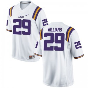 Andraez Williams Tigers Mens Game Jersey - White