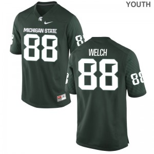 Michigan State University Andre Welch Game Kids Jersey - Green