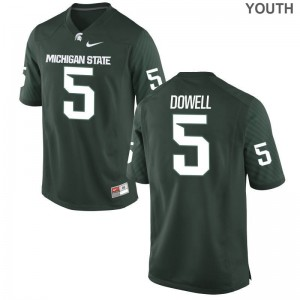 Michigan State Andrew Dowell Jersey Limited Green Youth