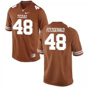 Andrew Fitzgerald Longhorns Men Jersey Orange NCAA Game Jersey