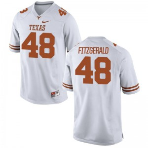 Limited Mens Longhorns Jersey Andrew Fitzgerald - White