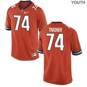 For Kids Game Stitched Fighting Illini Jerseys Andrew Trainer Orange Jerseys