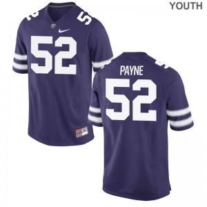 Kansas State University Anthony Payne Limited Jerseys Purple For Kids