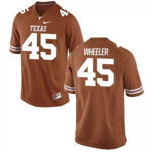 Anthony Wheeler Mens Longhorns Jerseys Orange Game Jerseys