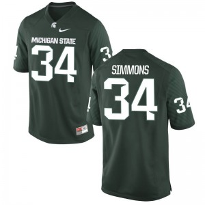 Michigan State University Jersey of Antjuan Simmons Game For Men - Green