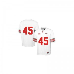 Game Archie Griffin Jersey OSU Buckeyes White Diamond Quest Patch Youth(Kids)