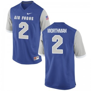 Air Force Falcons Arion Worthman Jersey Game Men Royal