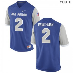 USAFA Arion Worthman Game Kids High School Jersey - Royal