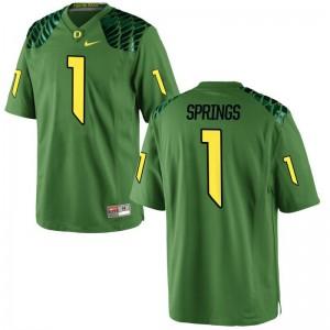 Arrion Springs Youth(Kids) Apple Green Jerseys Oregon Game