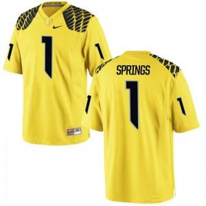 Arrion Springs Ducks Jerseys For Kids Limited Gold