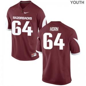 Audry Horn For Kids Arkansas Razorbacks Jerseys Cardinal Limited Jerseys