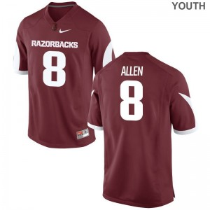 Limited Kids Arkansas Razorbacks Jersey of Austin Allen - Cardinal