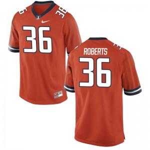 Men Austin Roberts Jersey Official Orange Game UIUC Jersey