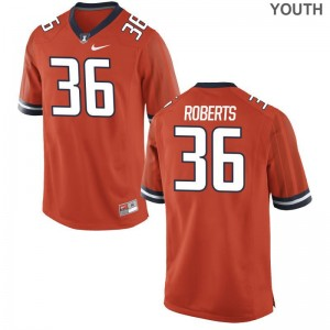 Orange Austin Roberts Jerseys Fighting Illini For Kids Game