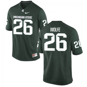Limited For Men MSU Jerseys of Austin Wolfe - Green