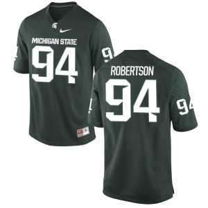 MSU Auston Robertson Jersey Green Game Mens