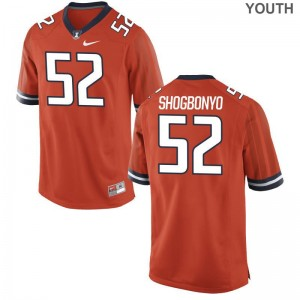 Orange Ayo Shogbonyo Jerseys Illinois Game Kids