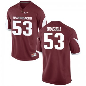Arkansas Razorbacks For Men Cardinal Game Ben Brasuell Jersey