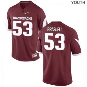 Ben Brasuell University of Arkansas Youth(Kids) Jerseys Cardinal Stitched Limited Jerseys