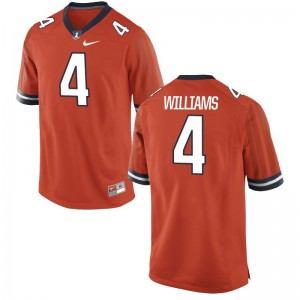 University of Illinois Bennett Williams For Men Limited Orange NCAA Jerseys