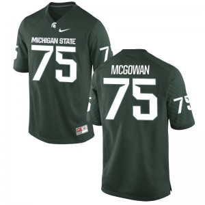Men Benny McGowan Jersey Michigan State University Green Game