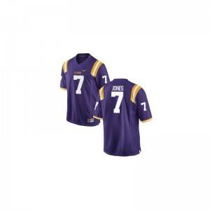 LSU Tigers Bert Jones Jerseys Men Game Purple