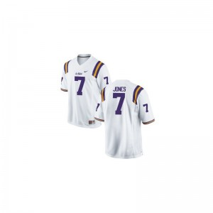 Youth(Kids) Game Tigers Jersey of Bert Jones - White