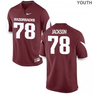 Bijhon Jackson Youth(Kids) Jersey Game University of Arkansas Cardinal