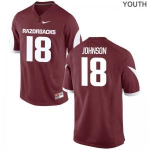 Arkansas Blake Johnson Youth(Kids) Limited Cardinal Stitched Jersey