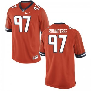 Men Limited University of Illinois Jersey Bobby Roundtree Orange Jersey