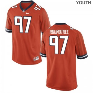 For Kids Bobby Roundtree Jerseys Orange Game University of Illinois Jerseys