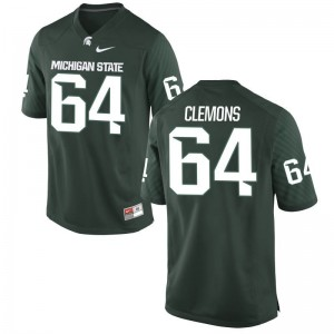 Brandon Clemons Limited Jersey For Men Player Michigan State Green Jersey