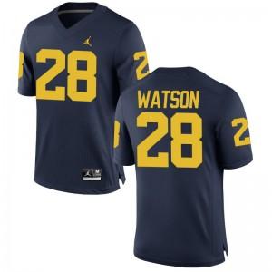 Brandon Watson Mens Michigan Wolverines Jerseys Jordan Navy Limited Jerseys