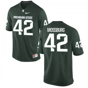 Spartans Brent Mossburg Game For Men Stitched Jersey - Green