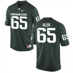 Spartans Brian Allen Jersey Green Game Mens