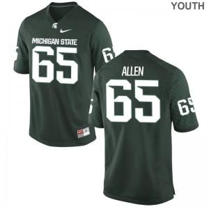 Brian Allen Jersey Kids MSU Game Green