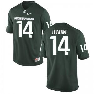 Brian Lewerke Men Spartans Jerseys Green Limited Stitched Jerseys