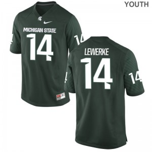 Spartans Brian Lewerke Limited Youth Stitch Jerseys - Green