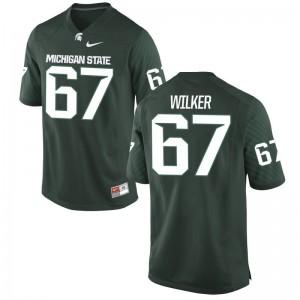 Michigan State Spartans Bryce Wilker Jerseys For Men Limited Green Jerseys