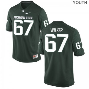 Spartans Game Green Youth Bryce Wilker Jersey