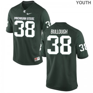 Michigan State University Byron Bullough Jersey Youth Game - Green
