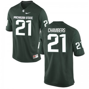 Michigan State Mens Game Cam Chambers Jersey - Green