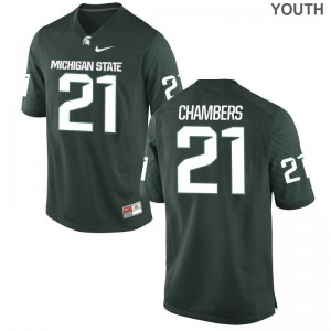Michigan State Spartans Cam Chambers Jerseys Green Youth(Kids) Game