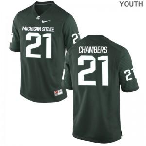 Michigan State University Limited Cam Chambers Youth(Kids) Jerseys - Green
