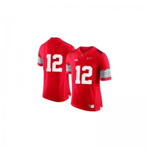 OSU Buckeyes Limited Cardale Jones Mens Jersey - Red Diamond Quest Patch