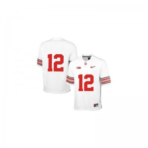 Ohio State Buckeyes Cardale Jones Youth Game White Diamond Quest Patch University Jerseys